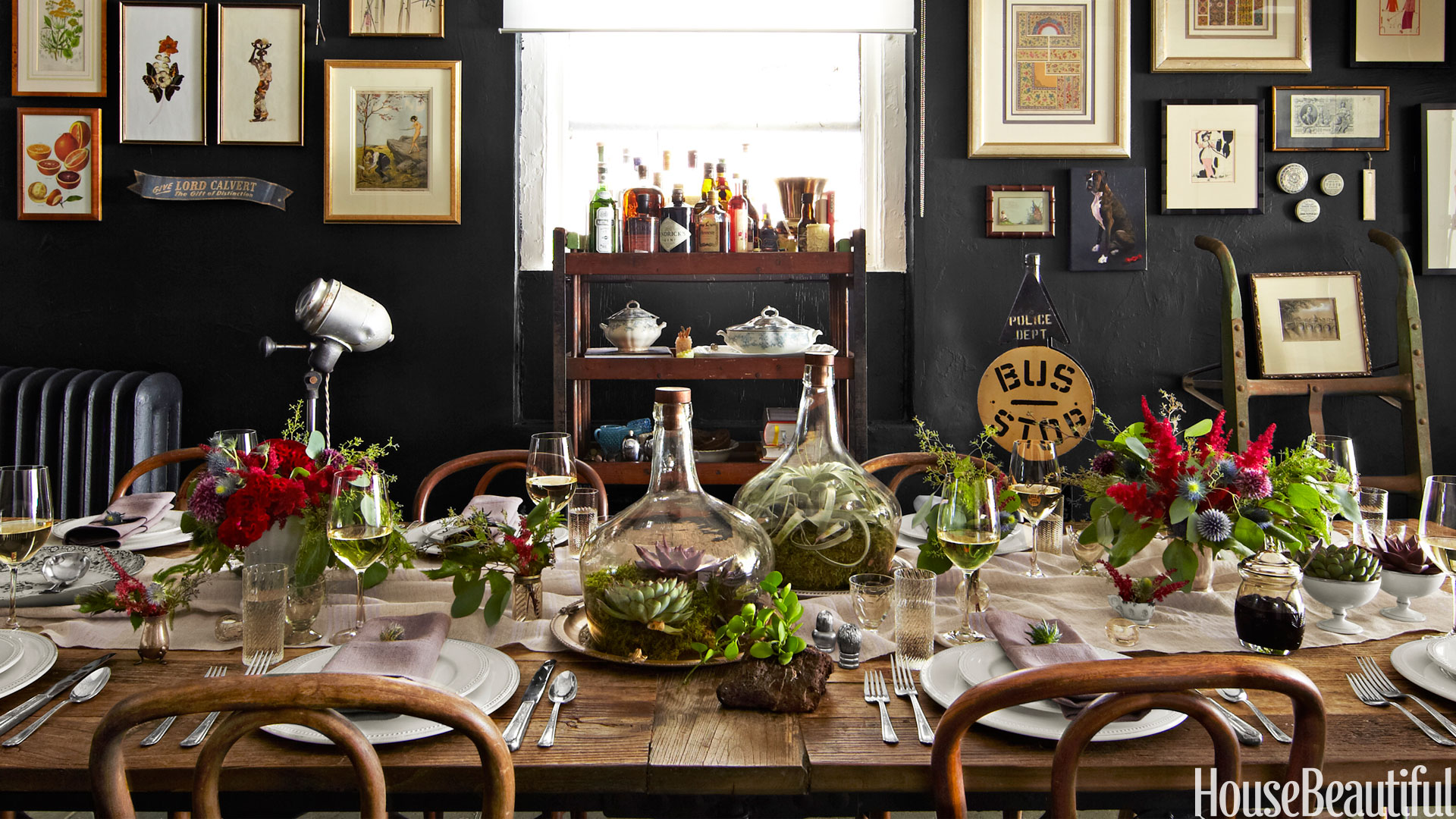 Fall table decorations ideas for fall tablescape and for Black and white tablescape ideas