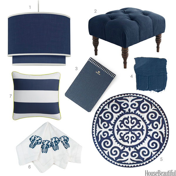 Indigo home accessories dark blue home decor - Blue home decor accessories ...