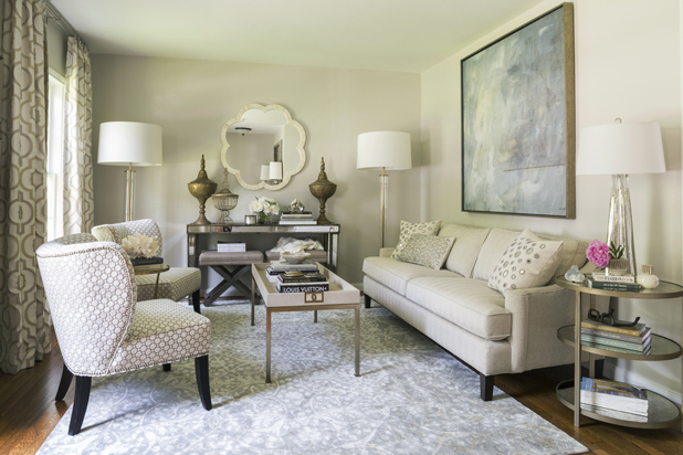 Living Room Before After - High Fashion Home