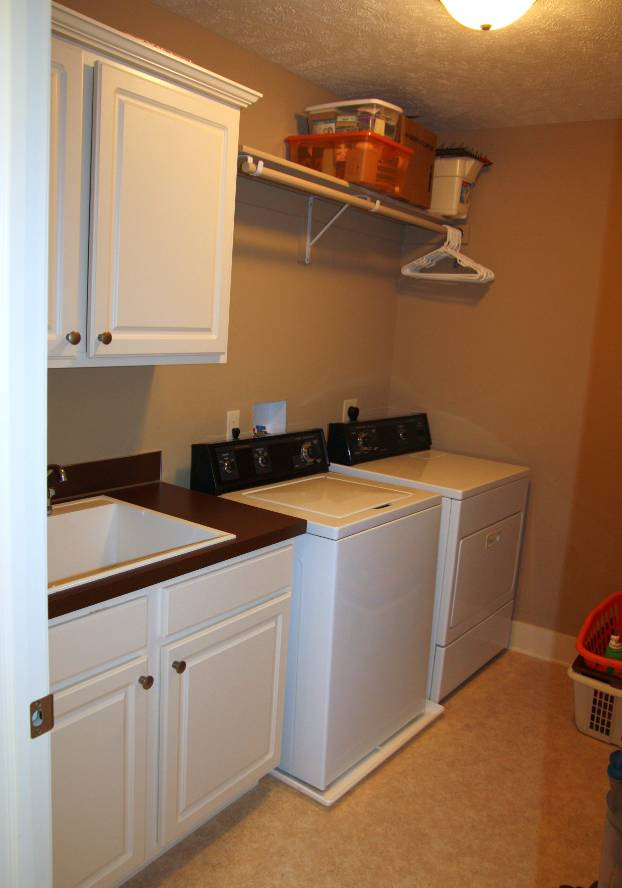HomeTalk Laundry Room Makeover Before And After