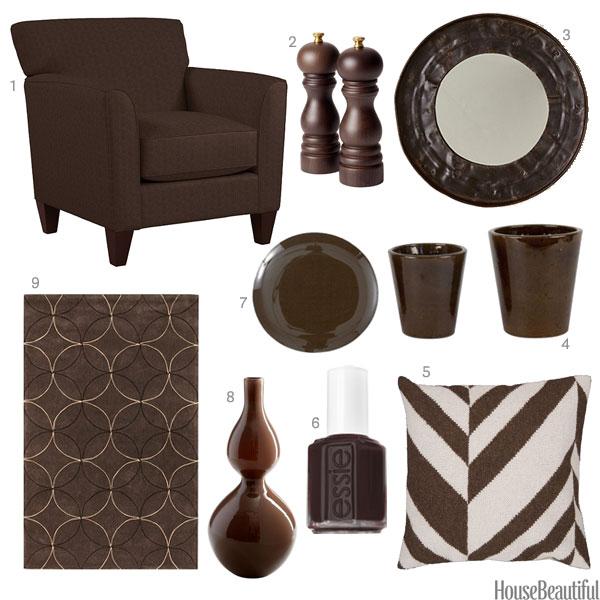 Dark brown home accessories decor