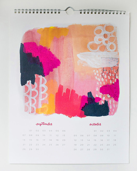Calendar Typography Tips : Watercolor calendars best on etsy