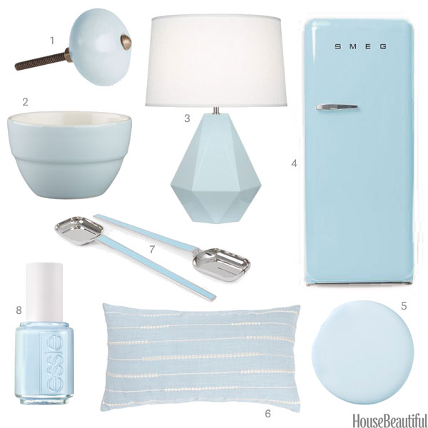 Pale blue home accessories light blue home decor - Blue home decor accessories ...