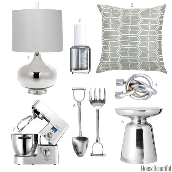 Silver home accessories silver home decor for Home decor accents
