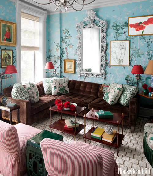 Miles Redd miles redd brooklyn townhouse - colorful townhouse