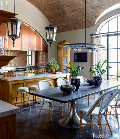 The 15 Most Beautiful Kitchens On Pinterest: Kitchen With Barrel Vault Ceiling