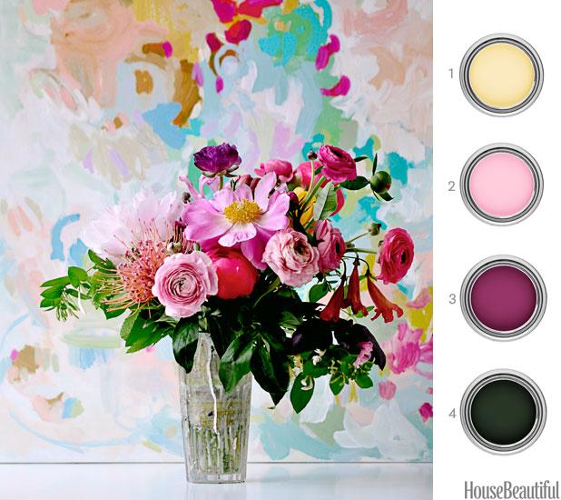 15 Fantastic Florists To Follow On Instagram: Paint Palette Flower Arrangement