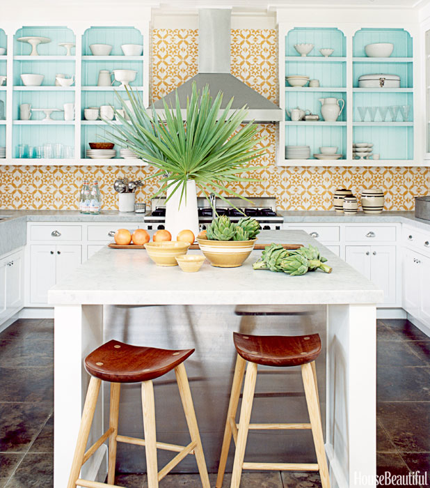 Tropical Kitchen Design Colorful Decorating Ideas