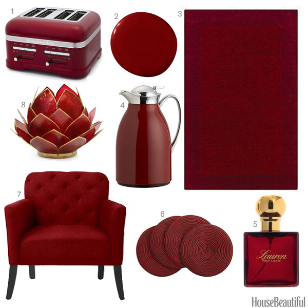 Garnet Red Accessories Garnet Red Home Decor