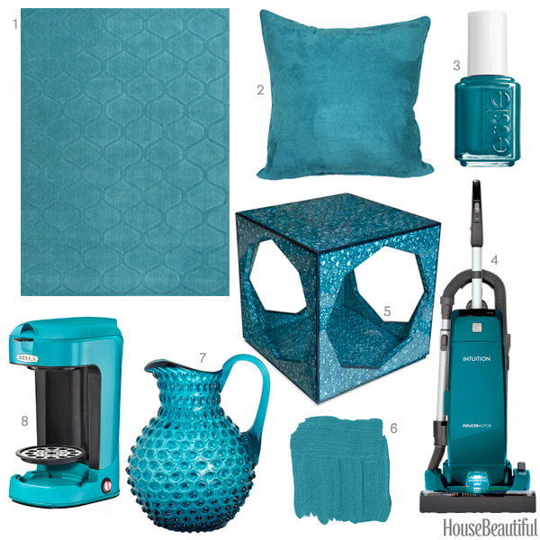 Http Www Housebeautiful Com Room Decorating Colors News A1903 Teal Home Accessories