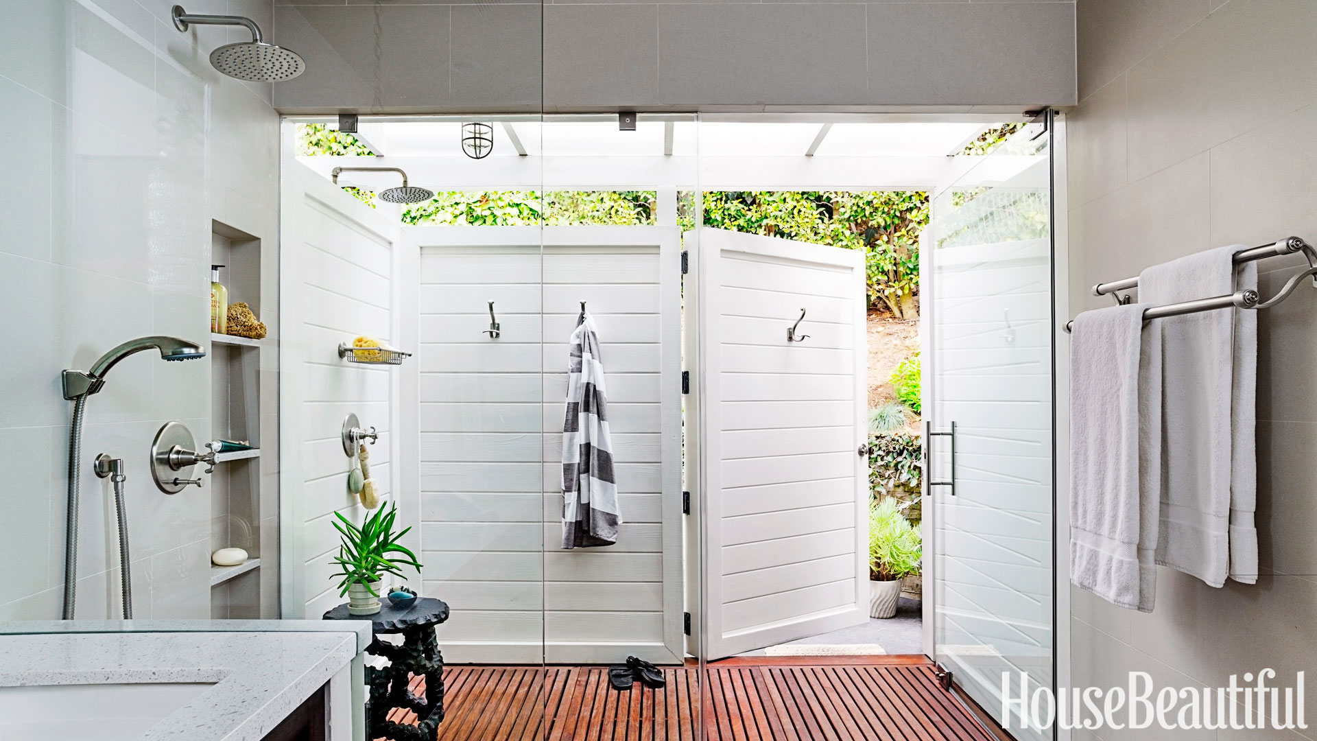 Indoor Outdoor Bathroom