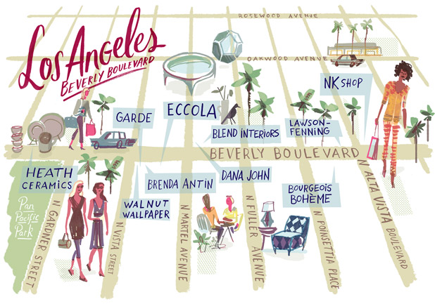 los angeles shopping guide - los angeles design stores