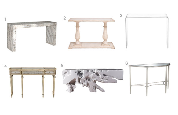 Silver Console Table Bellacor