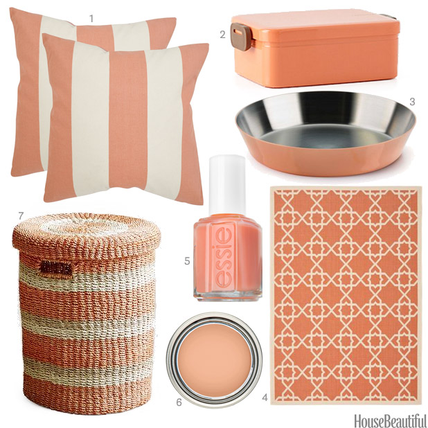 Image gallery peach accessories for Peach bathroom set