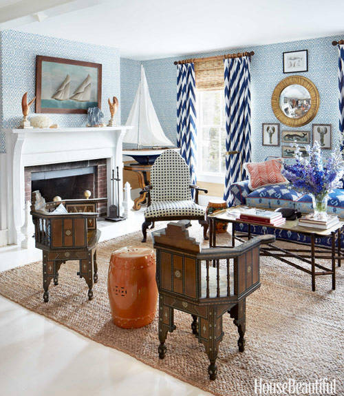 nautical home decor ideas for decorating nautical rooms house beautiful - Nautical Design Ideas