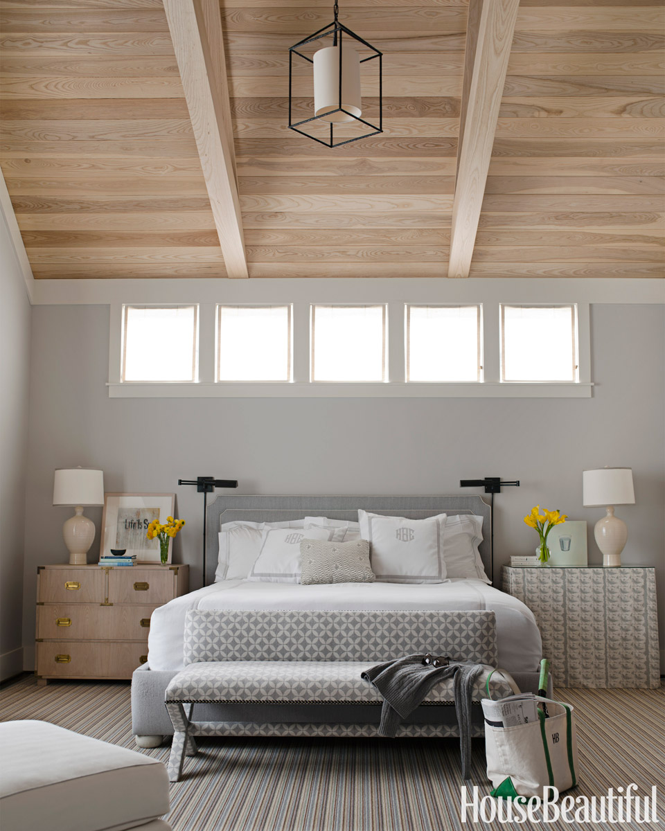 Simplistic Grey Master Bedroom: House Beautiful Pinterest Favorite