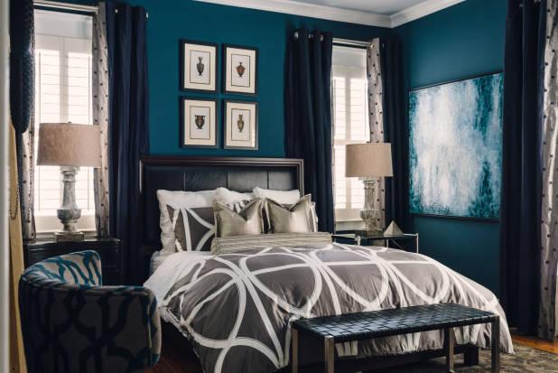 Masculine Bedroom masculine bedroom makeover - james wheeler bedroom makeover