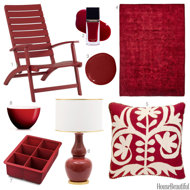 ruby red accessories - Red Home Decor Accessories