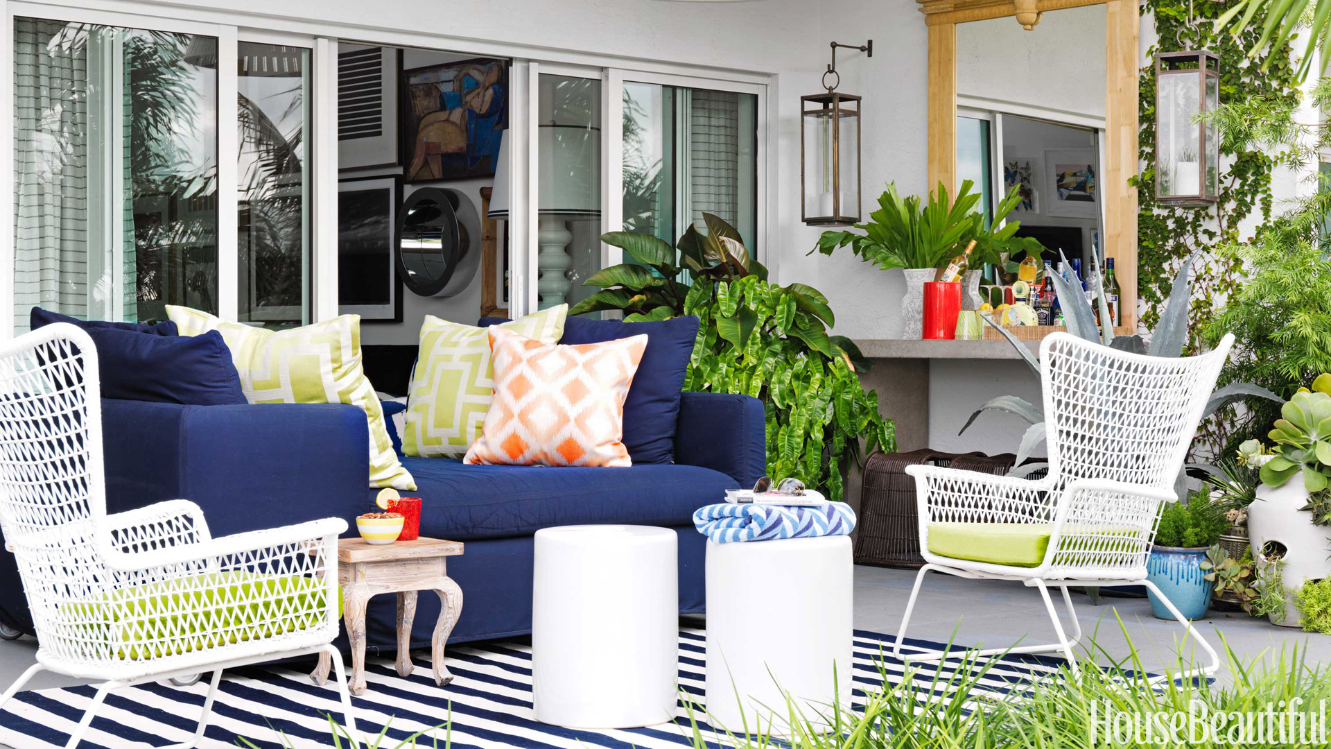 Colorful Outdoor Deck Decorating Ideas: Colorful Patio Decorating Ideas
