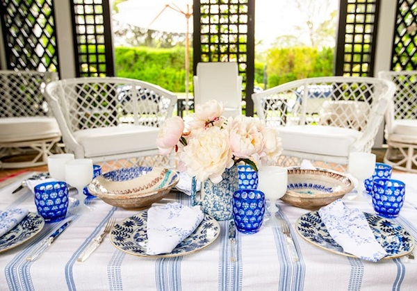 Blue And White Dishes And Table Settings Tablescapes And
