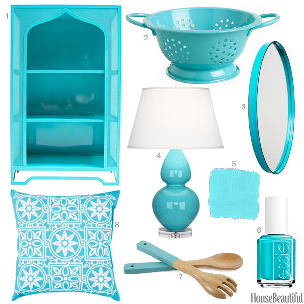 Caribbean Blue Accessories Aqua Home Decor