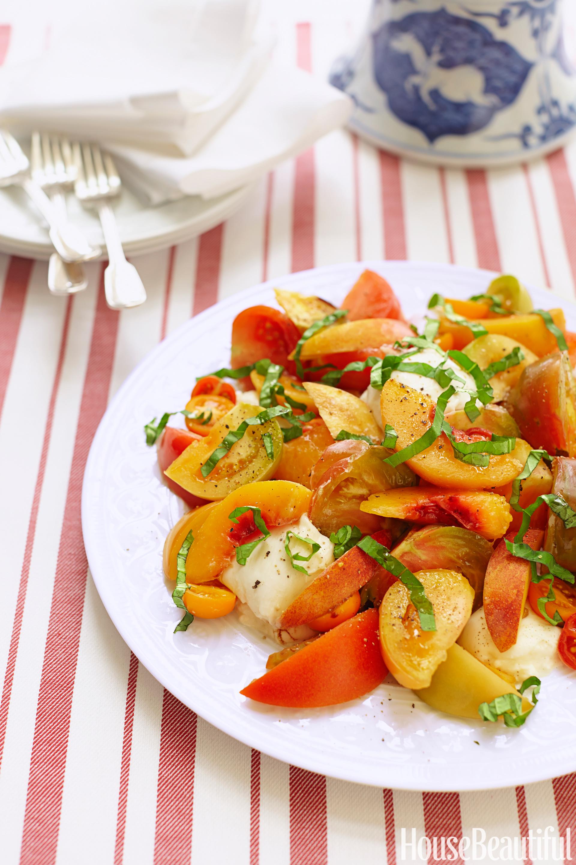 tomato salsa tomato peach burrata salad recipe burrata salad recipe ...