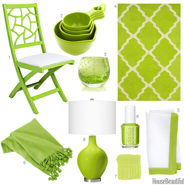 Bright lime green accessories lime green home decor for Lime green home decorations