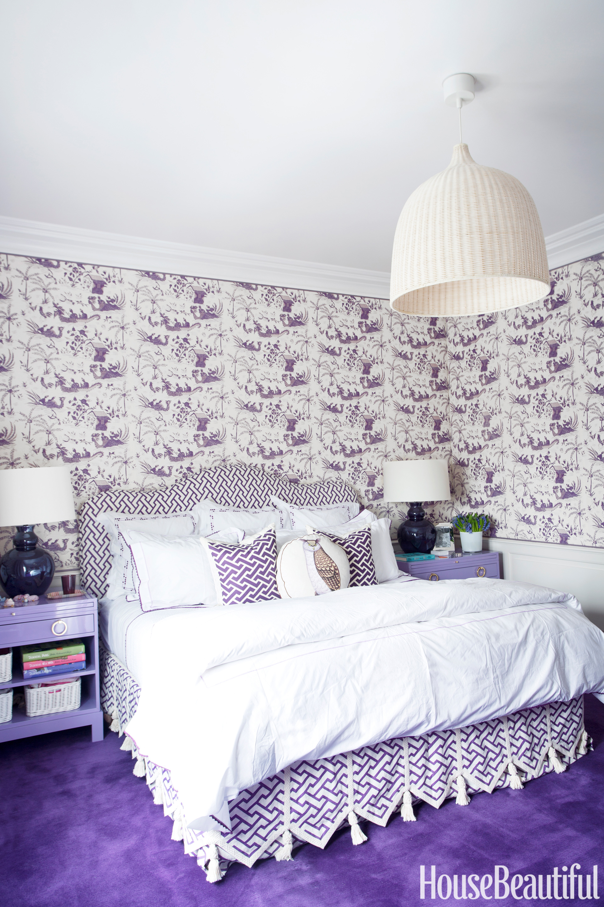 Purple Girls Bedroom