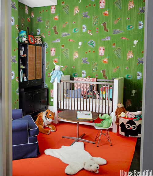 Bright Nursery With Tangerine Rug