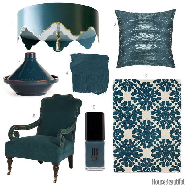 Http Www Housebeautiful Com Room Decorating Colors News A2513 Dark Teal Home Accessories 101613