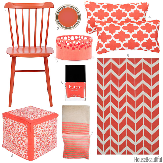 coral accessories - coral home decor