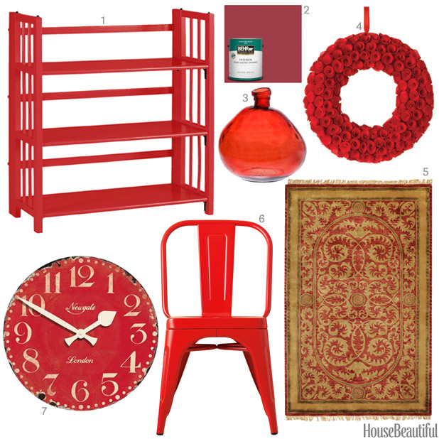 cherry red accessories - Red Home Decor Accessories