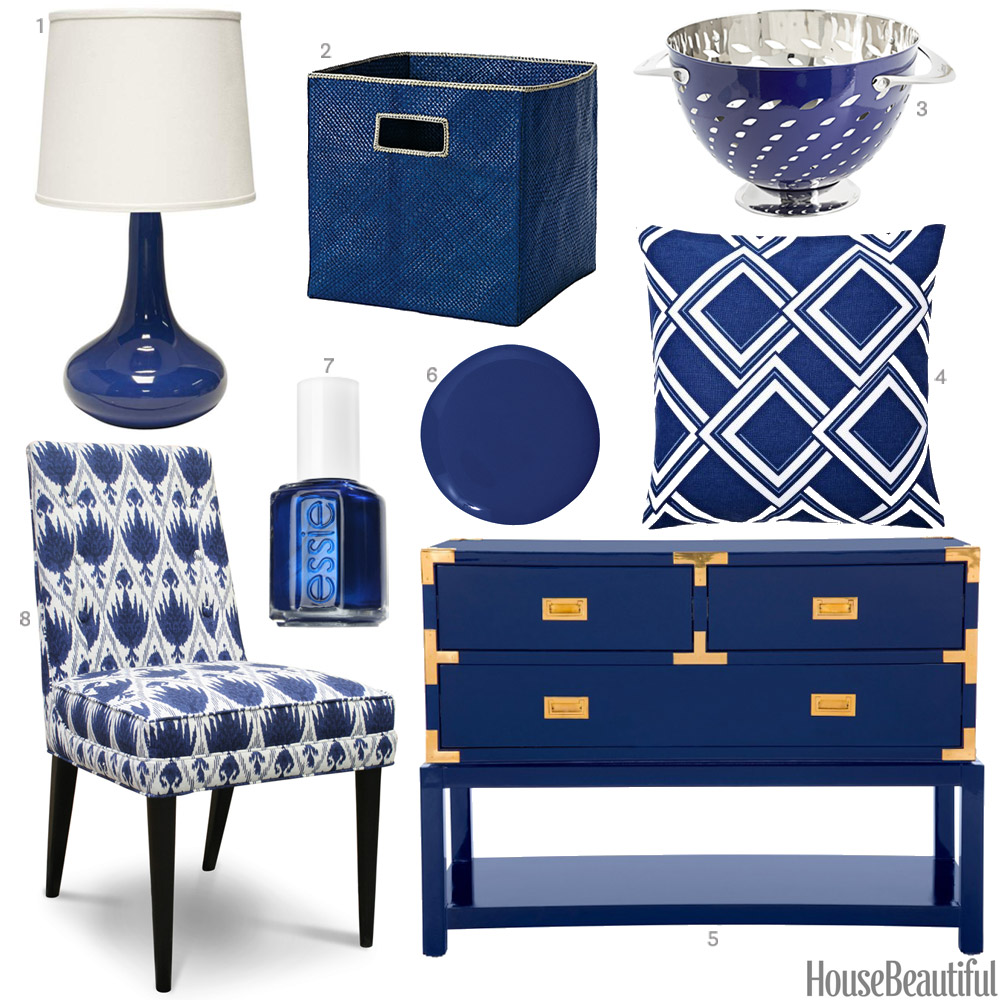 Sapphire blue accessories sapphire blue home decor for Home decor accessories