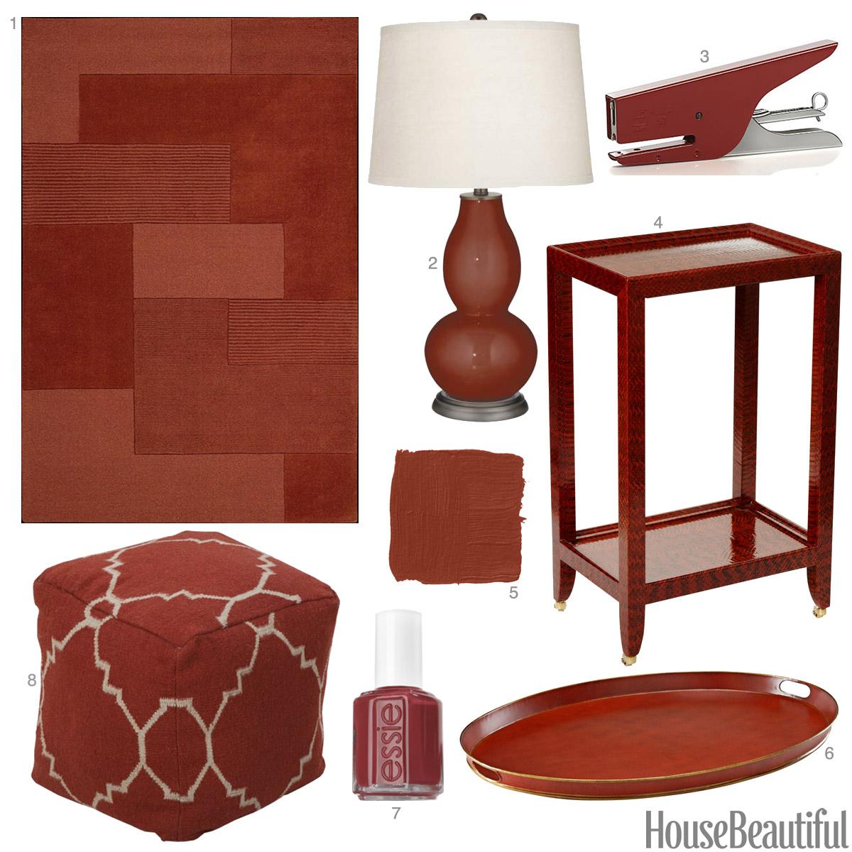 Red Home Decor Accessories: Cinnamon Color Accessories