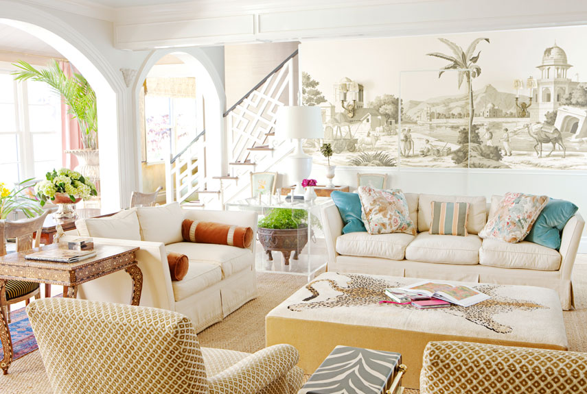 Colorful decorating ideas ruthie sommers design for Mural room white house