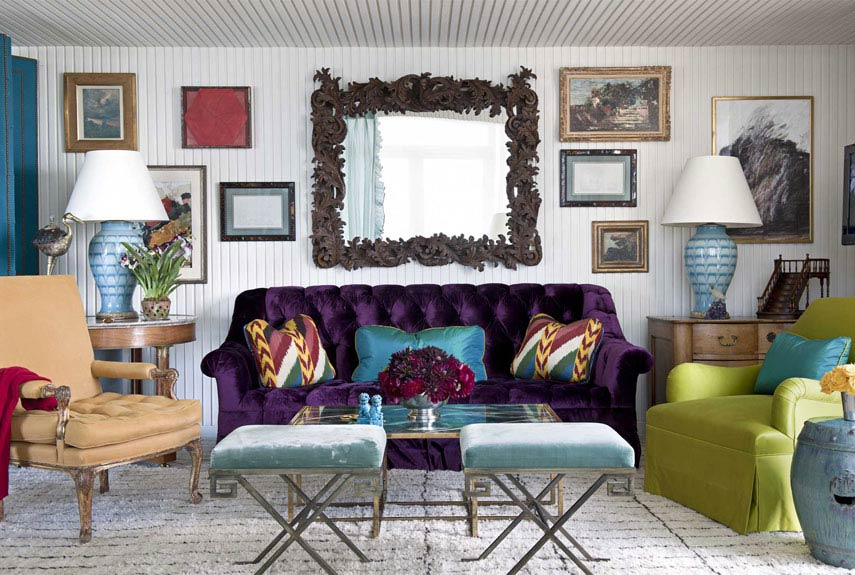 color decorating ideas - miles redd colorful interiors - Zwei Glamourose Appartement Interieur Deco Ideen Aus New York