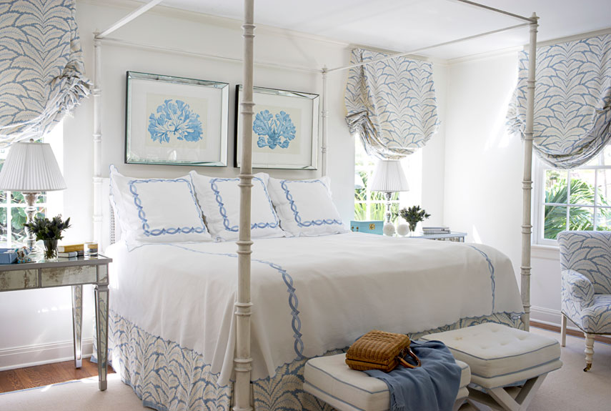 classic bedroom - Blue And White Bedroom Designs