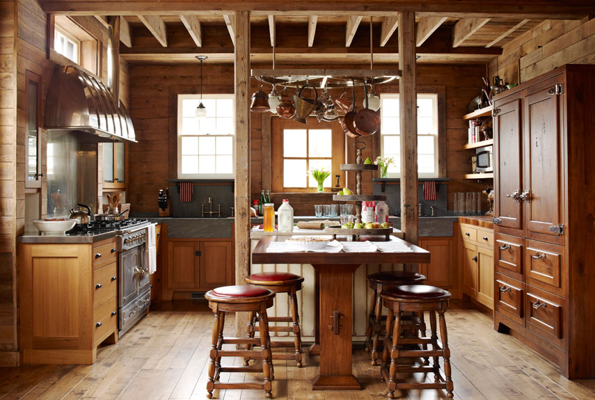 Kitchen Barn before and after kitchen makeover photos - farmhouse style kitchen