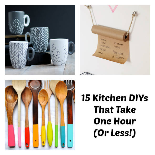 Easy kitchen diy one hour kitchen projects for Super cheap home decor