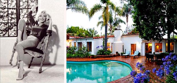 Marilyn Monroe Home inside marilyn monroe's brentwood home - marilyn monroe's last home