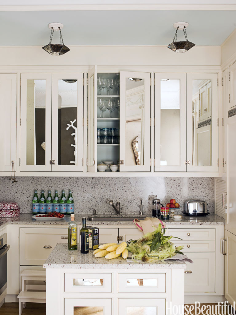 mirrored kitchen. How To Make a Small Room Look Bigger   Small Space Design Tips