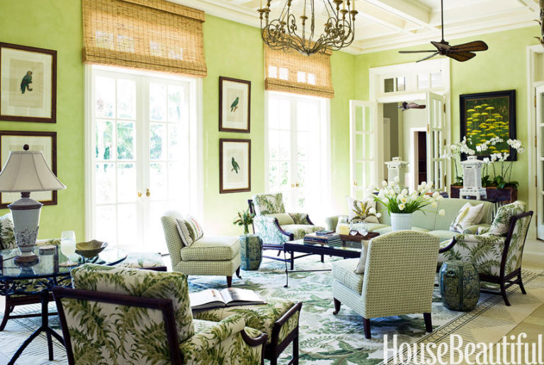 Living Room Ideas House Beautiful green room decorating ideas - green decor ideas