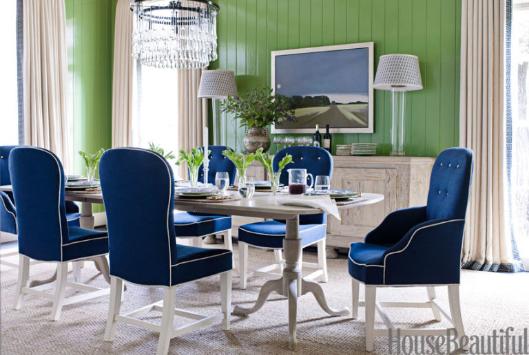 green color dining room green dining room pictures - House Beautiful Dining Rooms