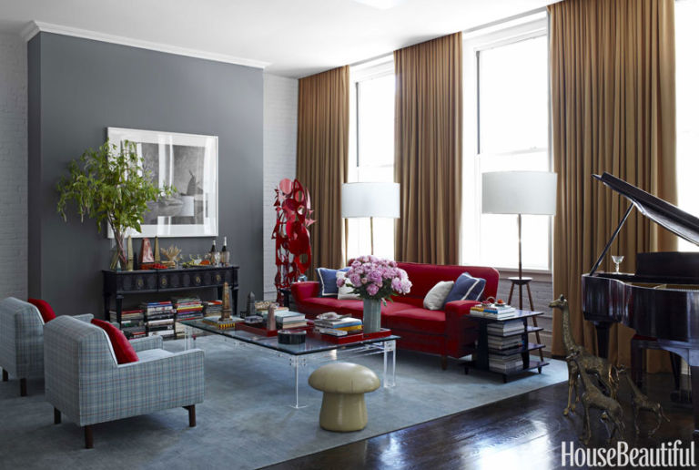 gray rooms decorating with gray - House Beautiful Living Room Colors