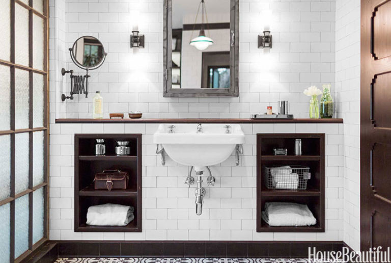 House Beautiful Bathroom industrial chic bathroom - industrial decorating ideas