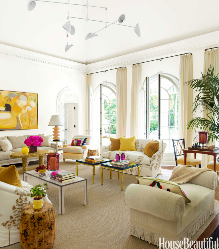 Living Room with Bold Color House Beautiful Pinterest Favorite – House Beautiful Living Room