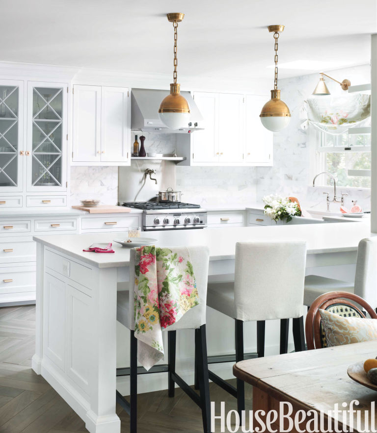 House Beautiful Dining Rooms mix and match seating - dining chairs that don't match