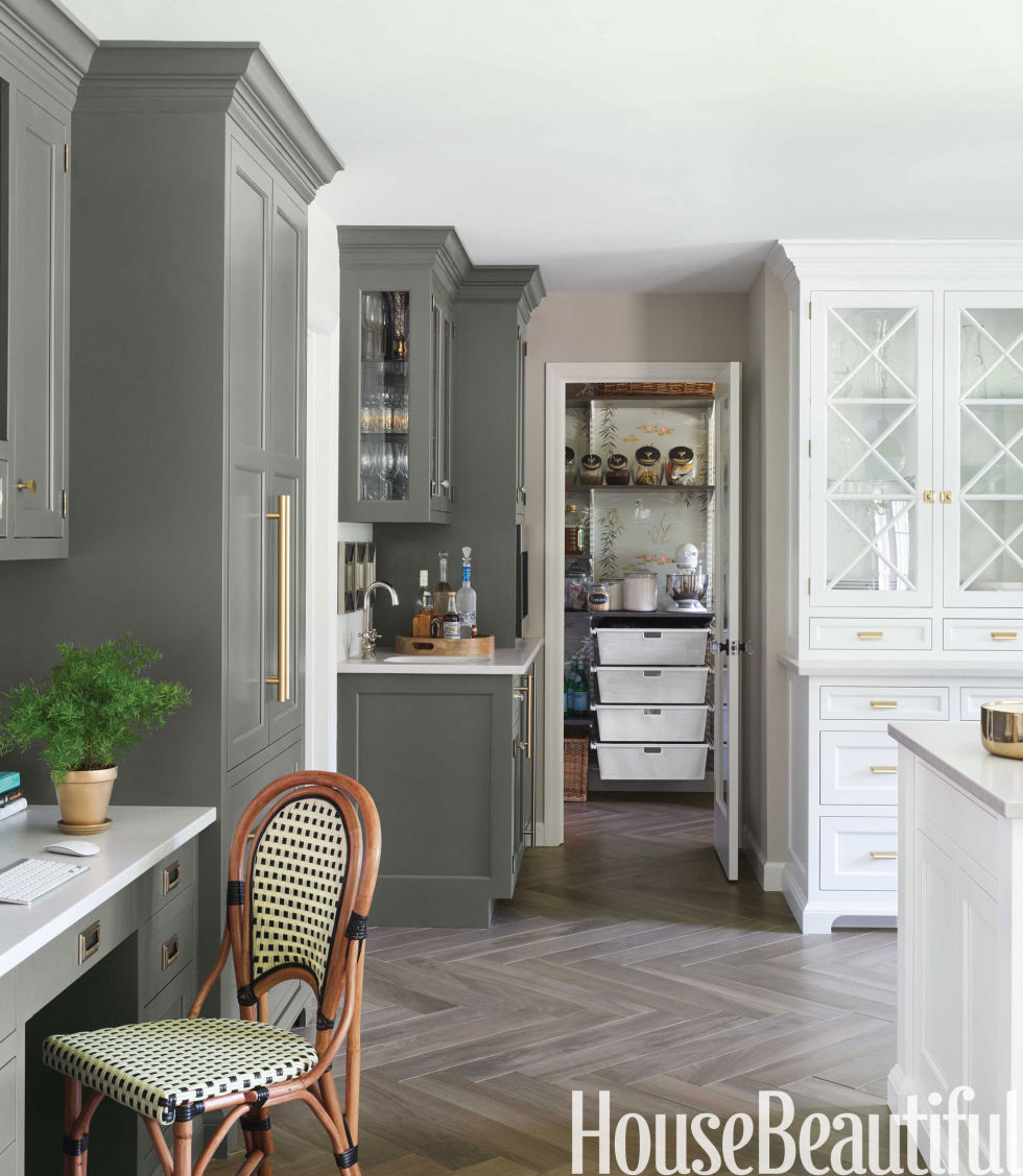 ordinary What Color To Paint Kitchen With White Cabinets #6: House Beautiful