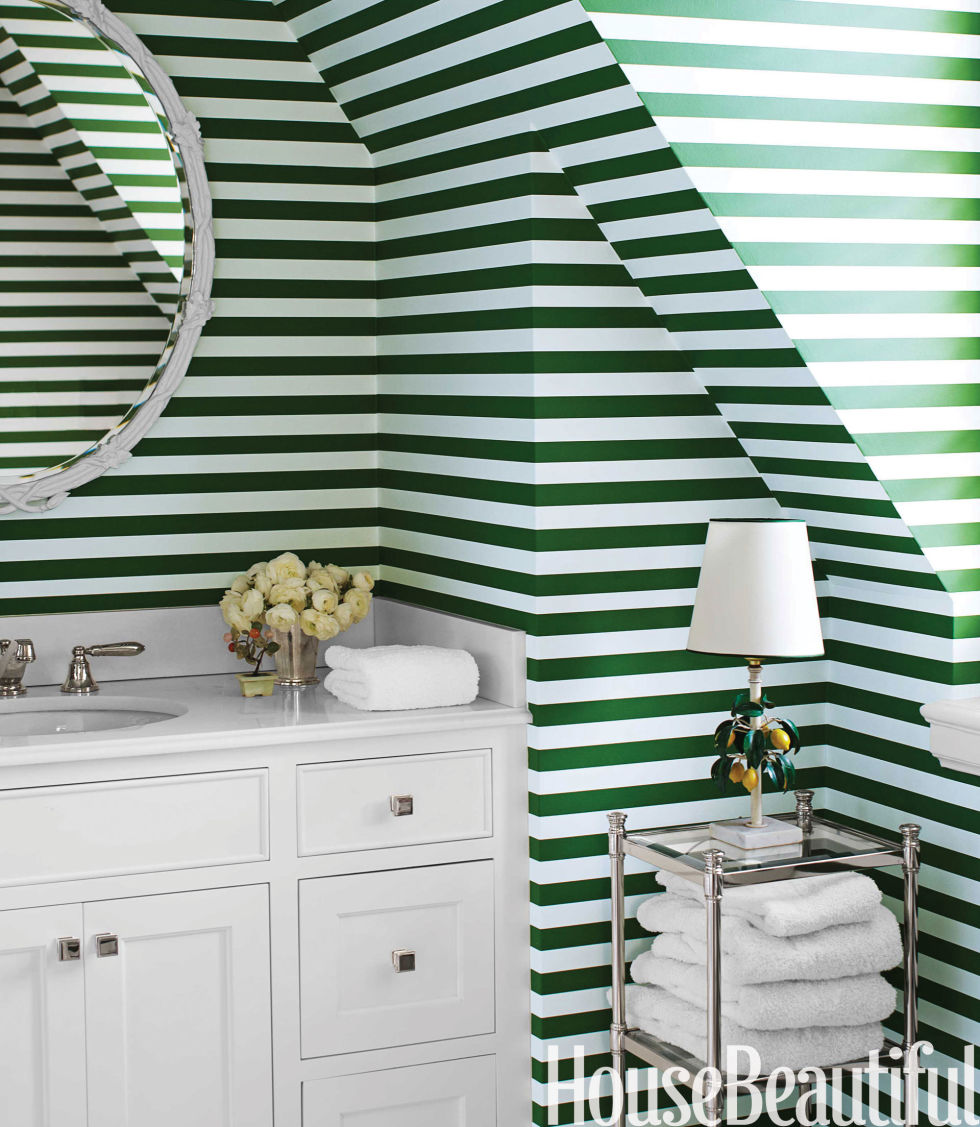 Image result for diy green stripe wall