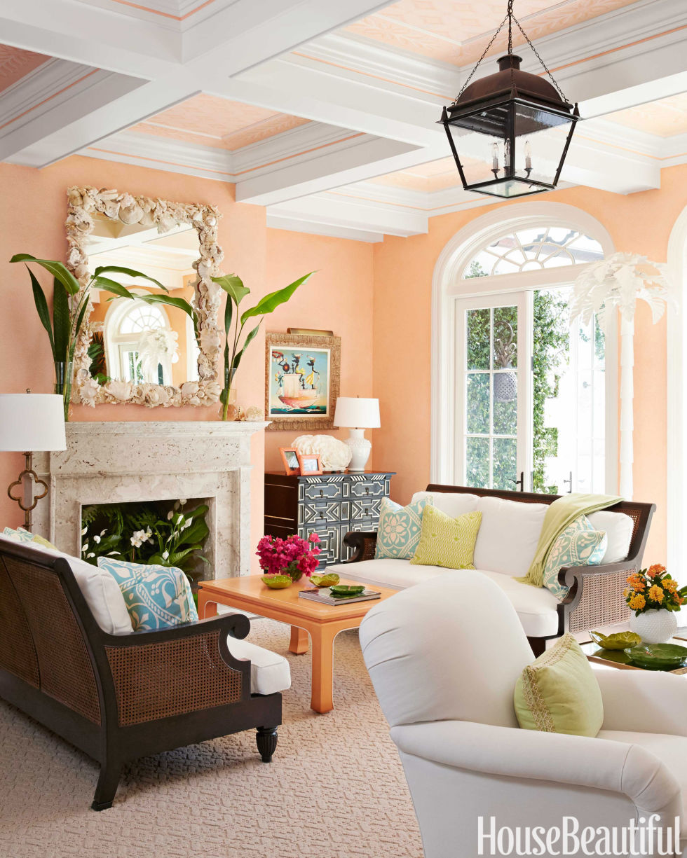 Interior Paint Color Living Room Colorful Palm Beach House Mimi Mcmakin Ashley Sharpe Palm Beach
